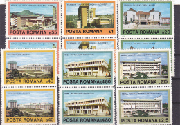 # 183  CONTEMPORARY ARCHITECTURE, BUILDINGS, 1979, Mi 3601/06 MNH**, STAMPS IN PAIRS  , ROMANIA - 1948-.... Republics