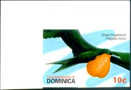 MARINE BIRDS-GREAT FRIGATE BIRD-DOMINICA-2007-IMPERF-MNH-SCARCE-TP-632