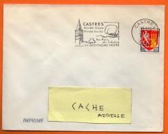 CASTRES GOYA LA MONTAGNE NOIRE   23 / 8 / 1964 Lettre Entière N° BB 90 - Mechanical Postmarks (Advertisement)