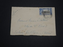 GRANDE BRETAGNE / SIERRA LEONE - Enveloppe  Pour La France En 1938 - A Voir - L 2162 - Sierra Leone (...-1960)