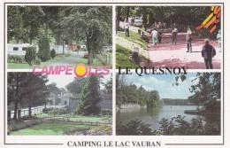 59---- LE QUESNOY---camping Les CAMPEOLES--Camping Le Lac Vauban---voir  2 Scans - Le Quesnoy