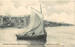 80 SAINT VALERY SUR SOMME - Bateau Passage Quittant Le Port - Saint Valery Sur Somme