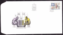 CZECHOSLOVAKIA 1985, UNUSED FDC COVER. Michel 2811. CHESS. Good Condition, See The Scans. - Ajedrez