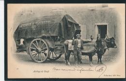 """LANDES - Attelage De Boeufs (avec Bâche """"MATABOS A CASTETNAU """") Postée à MONT DE MARSAN En 1906 - Francia"""