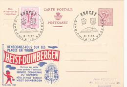 PUBLIBEL N° 1987  - Heist-Duinbergen - FR  / NL  - Beau Cachet (Knokke) - Publibels