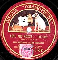 78 T. 25 Cm  état B - PAUL WHITEMAN - LOVE AND KISSES  Fox-trot - THREE O'CLOCK IN THE MORNING Valse - 78 G - Dischi Per Fonografi
