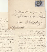 EAC 25c O. Bruxelles -> Angleterre Salisbury 1903 - 1893-1900 Thin Beard