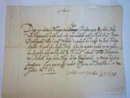 ESPAGNE  :  Document De 1609 Relatif Au Don D'une Relique De Saint-PHILIPPE APÔTRE  XX (DOC En Espagnol Avec Traduc) - Historische Dokumente