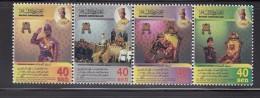 2008 Brunei Coronation Of Sultan  Complete Set Of 4 & Miniature Sheet MNH - Brunei (1984-...)