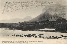 ILE MAURICE - EMBOUCHURE DE LA GRANDE RIVIERE ET MONTAGNE DES SIGNAUX ( CARTE RARE !! ) - Maurice