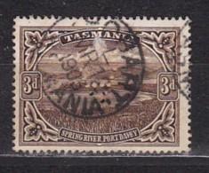 TASMANIE - N°Y&T -  63 - 3p  Sépia  - Port Davey - - Oblit  Perforé A - Autres - Océanie