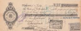 Lettre Change 4/7/1904 BLANC & NEVEU ST ETIENNE Loire Pour St Georges Sur Cher Loir Et Cher - Lettres De Change