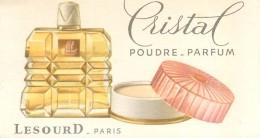 Carte Parfumée Parfum Cristal Poudre Parfum Lesourd à Paris Dos Blanc - TB.Etat - Perfume Cards