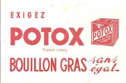Buvard POTOX Exigez POTOX Produit Liebig Bouillan Gras Sans égal - Soups & Sauces