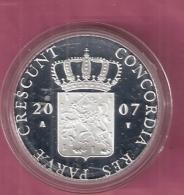 DUKAAT 2007 OVERIJSSEL AG PROOF - [ 5] Monnaies Provinciales