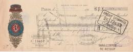 Lettre Change 21/10/1912 SUZOR & PINTA Fil Du Patriote PARIS Pour St Georges Sur Cher Loir Et Cher - Lettres De Change