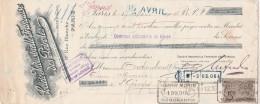 Lettre Change 17/3/1904 Société Industrielle Française Des Pétroles Rue Blanche PARIS  St Georges Sur Cher Loir Et Cher - Lettres De Change