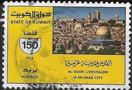 "KUWAIT 1987 ""Jerusalem Is An Arab City"" - 150f Jerusalem FU - Kuwait"