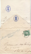 """EAC N°30 O. Bruxelles, Griffe """"Ministre De L'Education Publique"""", Enveloppe Papeterie Carlier (2 Scans) - 1869-1883 Leopold II"""