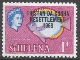 Tristan Da Cunha. 1963 Tristan Resettlement. Stamps Of St Helena O/P. 1d MH. SG 55 - Tristan Da Cunha