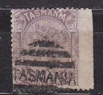 TASMANIE - N°Y&T -  37 - 8p  Brun-violet - Victoria   - Oblit  Tasmania  Bord De Feille - Autres - Océanie