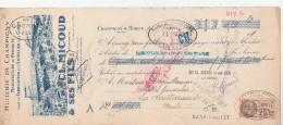 Lettre Change 25/2/1931 Cl MICOUD & Fils Huilerie Entretien Cuirs CHAMPIGNY Sur Marne Seine Pour La Souterraine Creuse - Lettres De Change
