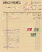 Sclayn - Imprimerie Dinot Frères (1941, Timbres Fiscaux) - Belgique