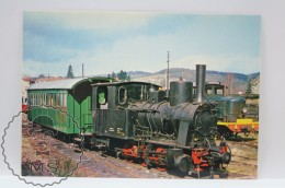 Train Topic Postcard - C.F.R. Haut - Vivarais - Train Vapeur Au Depot De Dunieres - Steam Train - French Railway - Eisenbahnen