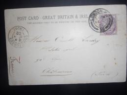 Grande Bretagne , Carte De London 1902 Pour Chateauroux
