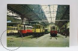 Train Topic Postcard - Musée Des Transports De Saint - Mandé - Locomotive Piguet Des Tramways Corrèze - French Railway - Trenes