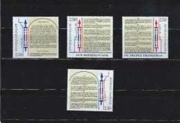 OA 7689 / FRANCE 1989 Yvert 2602 à 2605 ** - Bicentenaire De La Déclaration Des Droits De L'Homme - France