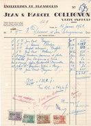 Vezin - Entreprises De Transports Jean & Marcel Collignon (1951, Salon Automobile Bruxelles, Timbres Fiscaux) - Belgique