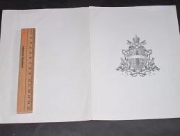 PARIS Entre 1893 Et 1899-Invitation De Mons. CLARI Archevêq. De Viterbe,Nonce Du Saint Siege,adressée à M.de Grandmaison - Vieux Papiers
