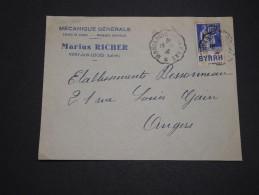 FRANCE - Enveloppe Commerciale De Vitry Aux Loges Avec Type Paix Bande Pub En 1938 - A Voir - L 2196 - Advertising