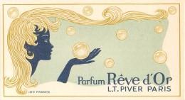 Carte Parfumée Parfum Rêve D'Or L.T. Piver à Paris Dos Blanc - En TB.Etat - Perfume Cards