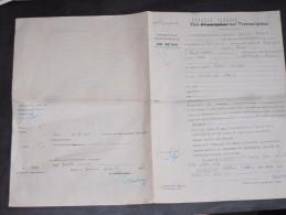 CONSERVATION DES HYPOTHEQUES DE REIMS - ETAT SUR TRANSCRIPTION Du 1/12/64 Au Nom De Hubert IDOUX - Vieux Papiers