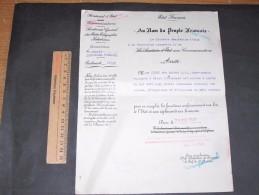 """ETAT FRANCAIS-SECRETARIAT D""""ETAT AUX COMMUNICATIONS-29/3/43- Nommination De Dame IDOUX Au Grade De Commis - Vieux Papiers"""