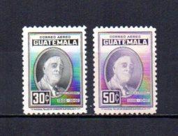 Guatemala   1947   .-   Y&T  Nº   156/157   **   Aéreos - Guatemala
