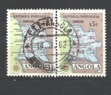 ANGOLA  1955 Map Of Angola * - Angola