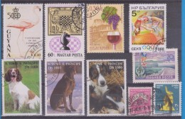 LOT OF USED STAMPS DEPORTES SPORTS ANIMALES  ANIMALS  PAISES  COUNTRIES VARIOS  VARIOUS   S-1570 - Sellos