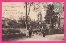 CPA  (RÉF : VV721) SAINTE-COLOMBE-SUR-L'HERS (11 AUDE) L'Église (attelage Et Calèche) - Autres Communes