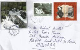 Letter From Shebenik-Jabllanice National Park (Qarrishte River) ALBANIA, Addressed To ANDORRA - Albania