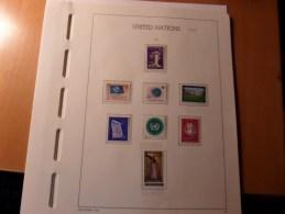 LOT NATIONS UNIES GENEVE  NEUFS** DE 1969 à 1975  1977 à 1979  + Organisation Intrnational LOT BRADE - Timbres