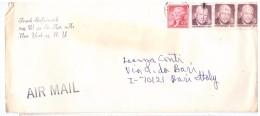 STORIA POSTALE - AMERICA - USA - AIR MAIL - ANNO 1975 - FRANK STEFANOVICH - NEW YORK - PER LA SIG. CONTI - ITALIA - - America Centrale