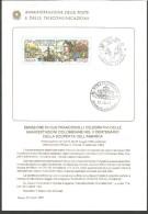 IB I13---  ITALIA REPUBBLICA,   BOLLETTINO INFORMATIVO FILATELICO,   COLOMBO,   1991, - Celebrities
