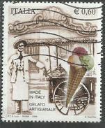 ITALIA REPUBBLICA ITALY REPUBLIC 2006 MADE IN ITALY IL GELATO ARTIGIANALE € 0,60 USATO USED OBLITERE´ - 6. 1946-.. Repubblica