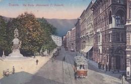 Italy Trieste Via Giulie Monumento D.Rossetti ...Tramway - Tranvía