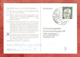 Karte, EF Heinemann, Aichhalden Nach Stuttgart 1971 (32262) - [7] République Fédérale