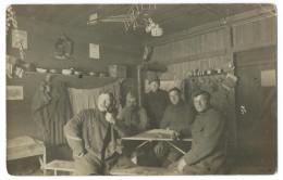 LAUBAN (Pologne, Silésie) Camp De Prisonniers Guerre 14-18 - Une Chambre - Carte Photo Eugen Seibt - Animée - Guerre 1914-18