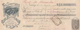 Lettre Change 27/10/1903 S GLOTZ Broderies NANCY Meurthe Et Moselle Pour Niort - Lettres De Change